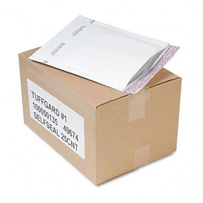 Jiffy TuffGard Self-Seal Cushioned Mailer, #1, 7-1/4 x 12, 25/Carton