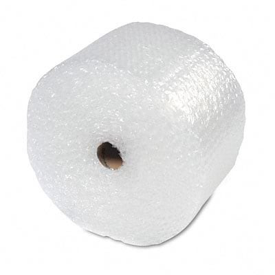 Recycled Bubble Wrap In Dispenser Box, 5/16 Thick, 12x100ft
