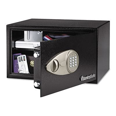Electronic Lock Security Safe, 1.0 cu. ft., Black
