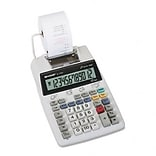 EL-1750V Compact Desktop Calculator, 12-Digit LCD, Two-Color Printing, Black/Red
