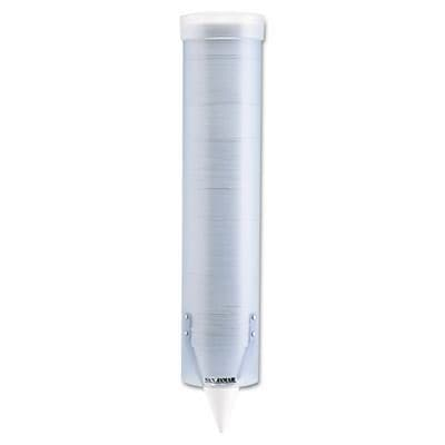 San Jamar® Cup Dispensers; Adjustable, Frosted, Wall Mounted, Blue