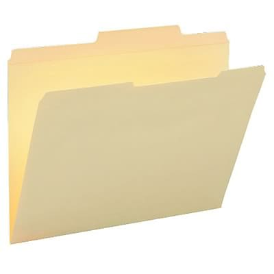 Guide Height File Folders, 2/5 Cut Rt of Center, 2-Ply Top Tab, Ltr, MLA, 100/Bx