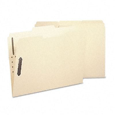 Acid-Free Poly Folder w/2 Fasteners, 1/3 Cut, Top Tab, Letter, Manila