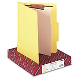 Smead® Top Tab Classification Folders; 1 Divider, Yellow