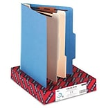 Smead® Top Tab Classification Folders; 2 Dividers, Blue