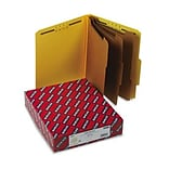 3 Expansion Classification Folder, 2/5 Cut, Letter, 8-Section, YW, 10/bx