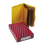 3 Expansion Classification Folders, 2/5 Cut, Lgl, 8-Section, YW, 10/bx