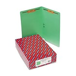 Legal Green 2 Capacity Fastener Folders
