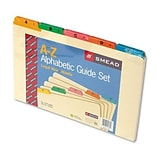 Smead® Recycled A-Z Indexed Guides with Colored Tabs; Legal
