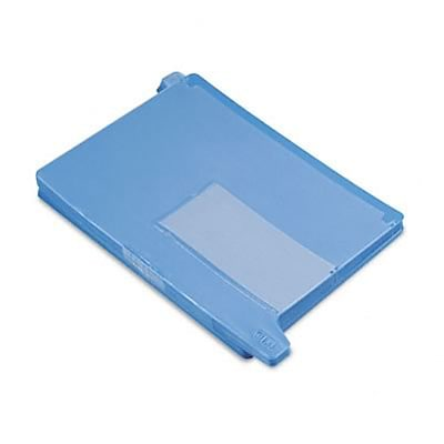 Blue End Tab Out Guides with Pockets, Vinyl, Letter, 25 per Box