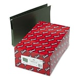 1-3/4 Capacity Hanging File Pockets w/Sides, 11 Point, Legal, Std Green, 25/Box