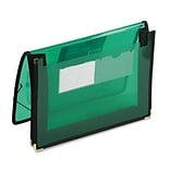 2in Expansion ULetteracolor Wallet, Poly, Letter, Translucent Green
