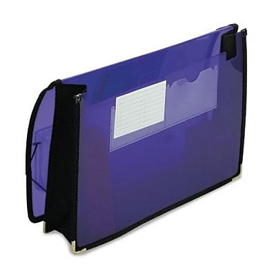 Smead® Ultracolor Wallets; 2 Expansion, Poly, Letter, Translucent Purple