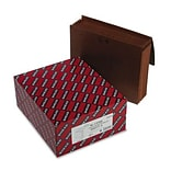 Smead® 5 Expansion Wallets w/Leather-Like Cord; 6 Pockets, Redrope, Letter, 10/Box