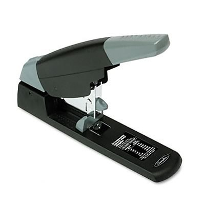 High-Capacity Heavy-Duty Stapler, 210 Sheet Capacity, Black/Gray