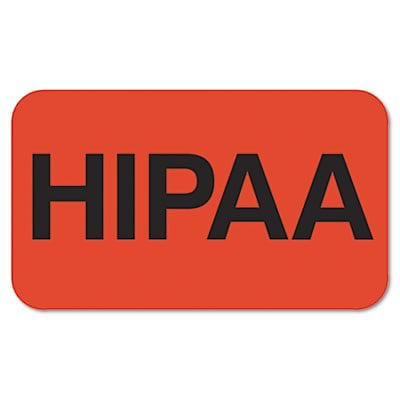 Tabbies® Medical Labels; Medical for HIPAA, Fluorescent Red, 1-1/2x7/8, 250 Labels