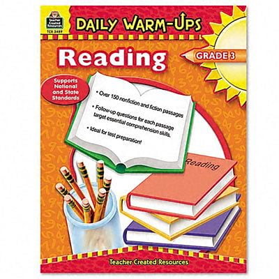 Teacher Created Resources Daily Warm-Up Reading Book; Grade 3