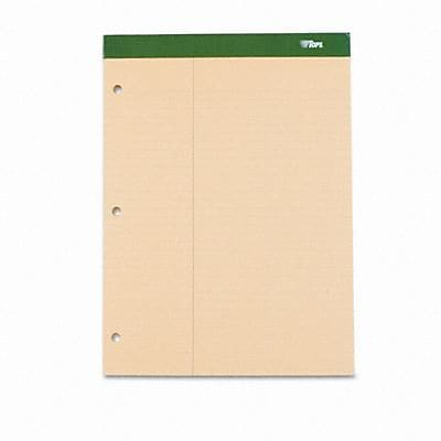 Tops® Double Docket® Ruled Pads with Extra Stiff Back; Law Rule, Letter, Canary, 100 Sheets/Pad