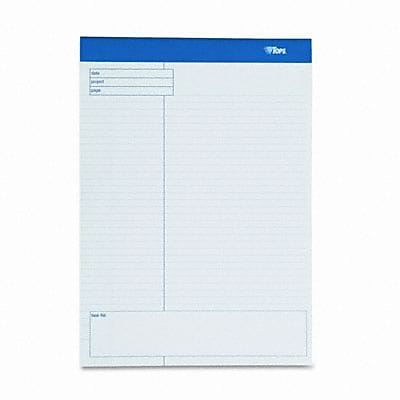 Tops® Docket® Gold Planning Pads; Wide Rule, 8-1/2x11-3/4, WE, 4 40-Sheet Pads/Pk