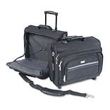 Rolling Notebook Case/Overnighter, Poly, 16 1/2w x 10d x 14-1/2h, Black