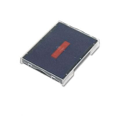 Self-Inking Stamp Replacement Pad for T4729; Red/Blue
