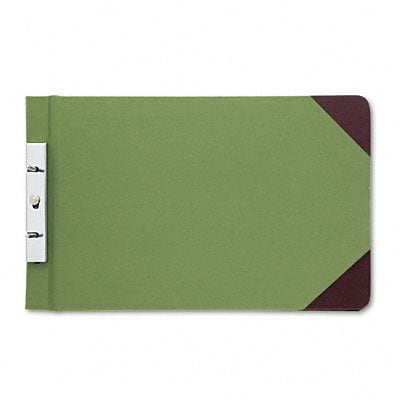 Canvas Sectional Post Binder, 8-1/2 x 14, 2-3/4 Center, Green/Red