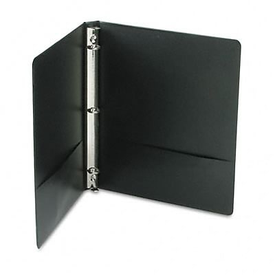 Acco® Wilson Jones® Concealed Rivets 1/2 Round Ring Binder; View, Black, 3-Ring