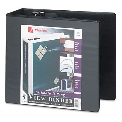 Acco® Wilson Jones® 5 D-Ring Binder; View, Black, 3-Ring