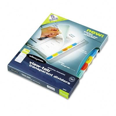 View-Tab Index Dividers, 8-Tab, Square, Ltr, Asst, Five Sets/box