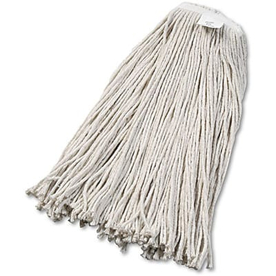 Unisan® Cut-End Cotton Wet Mop Heads; #32 Size, White