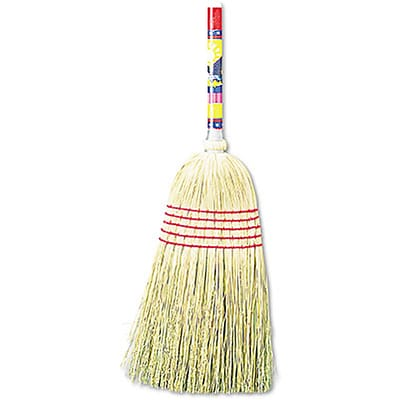 Unisan® Maid Broom; Mixed Fibers, Wood Handle