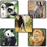 "SmileMakers® Favorite Animals Stickers; 2-1/2""H x 2-1/2""W, 100/Roll"