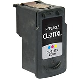 Quill Brand® Canon CL-211 Remanufactured C/M/Y Ink Cartridge, High Yield (2975B001) (Lifetime Warran