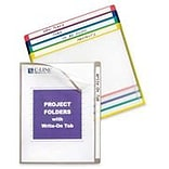 C-Line Project Folders, Assorted Colors, 11 x 8 1/2, 25/Bx (62160)