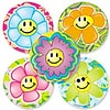 "SmileMakers® Flower Power Stickers; 2-1/2""H x 2-1/2""W, 100/Roll"