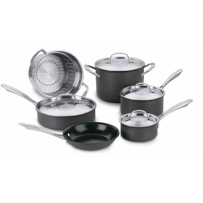 Green Gourmet Hard Anodized Non Stick 10 Piece Cookware Set