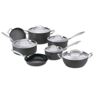 Green Gourmet Hard Anodized Non Stick 12 Piece Cookware Set