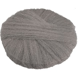Global Material Radial Steel Wool Pads, 18 x 14, Grade #0, 12 pads/case