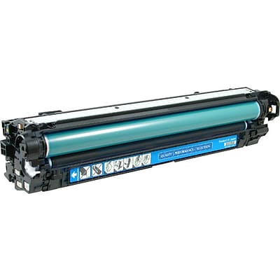 Quill Brand® HP 650 Remanufactured Cyan Laser Toner Cartridge, Standard Yield (CE271A) (Lifetime Warranty)