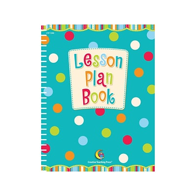 Dots on Turquoise Lesson Plan Book, 8-1/2 x 11