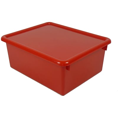 Stowaway Letter Box with Lid, Red, 13 x 10-1/2 x 5