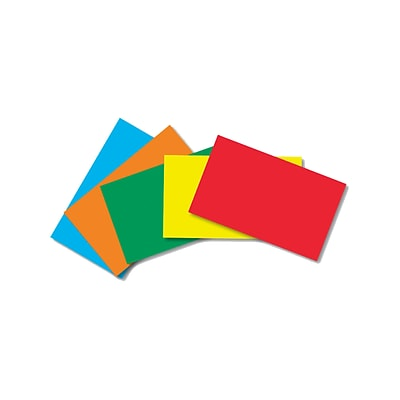 Border Index Cards, 4 x 6 Blank, Primary Colors 100CT