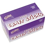 Chenille Kraft® Craft Sticks; Natural, 1,000 Pieces