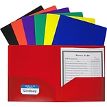 C-Line Two-Pocket Heavyweight Portfolio Folder, Assorted Colors, Pack of 36 (CLI33950)