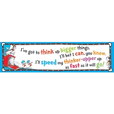 Eureka® Cat In The Hat™ Think Up Bigger Things Banner
