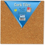 Flipside® Cork Tiles; 12 X 12; Set Of 4