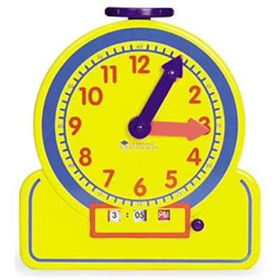 Learning Resources® Primary Time Teacher™ Junior 12-Hour Learning Clock®