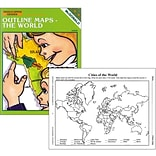 Mcdonald Publishing® The World Outline Maps Reproducible Book