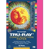 Tru-Ray® Construction Paper; Shocking Pink, 9x12, 50 Sheets