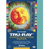 Tru-Ray® Construction Paper; Turquoise, 12 X 18, 50 Sheets